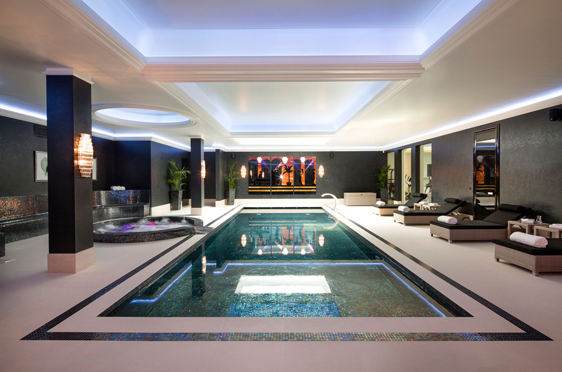 How to design luxury indoor swimming pools wolff for Swimming pool room ideas